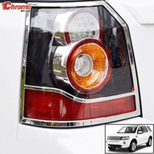 Chrome Taillight Rear Lamp Cover Bezel Molding Protector Decor Trim For Freelander 2 LR2 2015 2014 2013 Tali Light Styling(China)