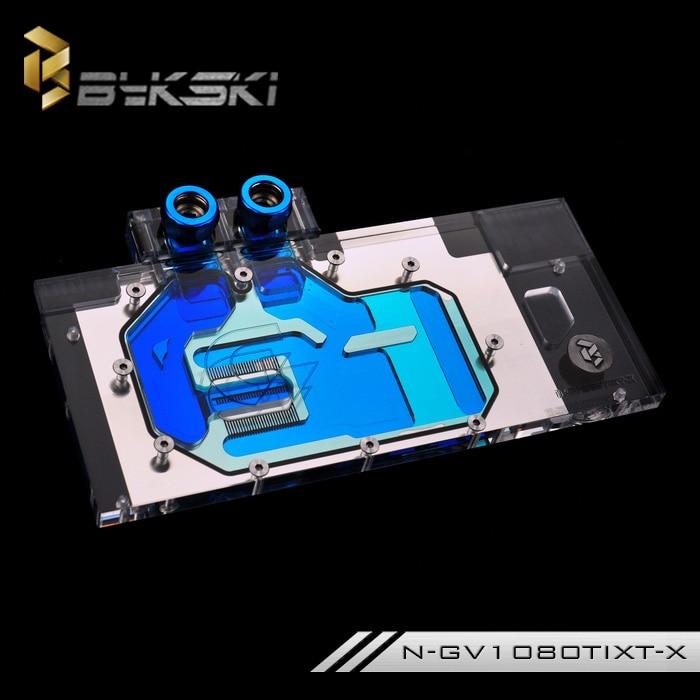 все цены на  Bykski N-GV1080TIXT-X Full Cover Graphics Card Water Cooling Block  for Gigabyte AORUS GTX1080Ti  онлайн