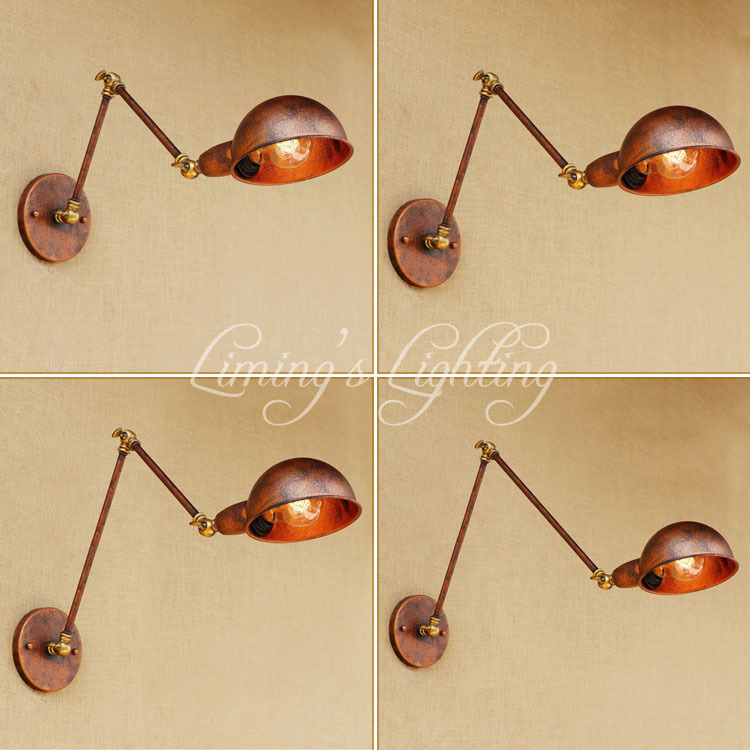 Industrial Loft Style Edison Wall Sconce Swing Long Arm Vintage Wall Lamp Iron Wall Light Fixtures Indoor Lighting Lamparas iwhd loft style edison wall sconce bedside lamp long arm industrial vintage wall light fixtures indoor lighting lamparas