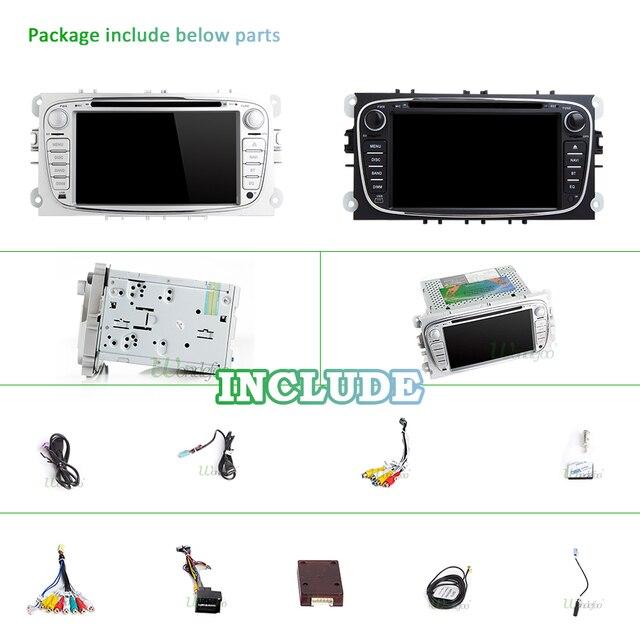 DSP IPS 스크린 4G 64G 안 드 로이드 9.0 2 din 자동차 멀티미디어 플레이어 포드 포커스 Mondeo S-MAX C-MAX 갤럭시 kuga GPS 스테레오