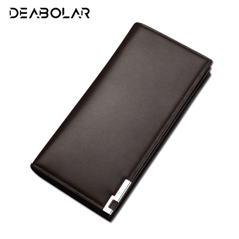 Fashion Business Long Men's Leather Wallet Male Famous Brand Wallets Purses Clutch with Card Holder Free Shipping 2016 famous brand new men business brown black clutch wallets bags male real leather high capacity long wallet purses handy bags