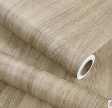 Autocollant auto adhésif imperméable en PVC, grain de bois, étiquette de rénovation de mobilier de table de garde robe