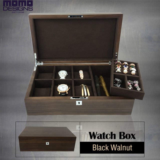 cccb6c40adf Luxury solid Walnut wood watch box 6 Jewelry storage box wooden walnut  watch box case jewelry