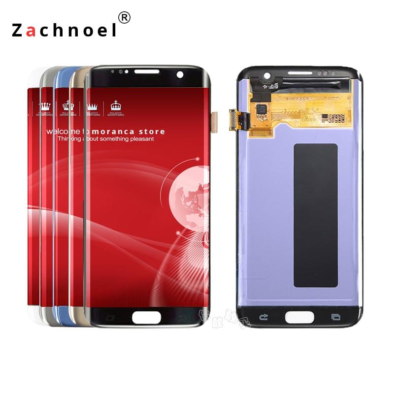 Ersatz Bildschirm für Samsung Galaxy S7 Rand Display G935 G935F SM-G935F LCD Display mit Touch Screen Digitizer Montage