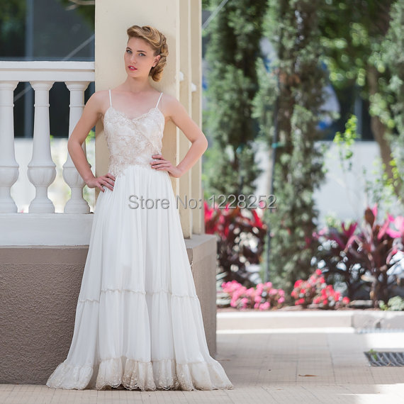 Bohemian Lace Wedding Gowns Low Back Vintage Inspired Boho Dress Gypsy Dresses In From Weddings Events On Aliexpress