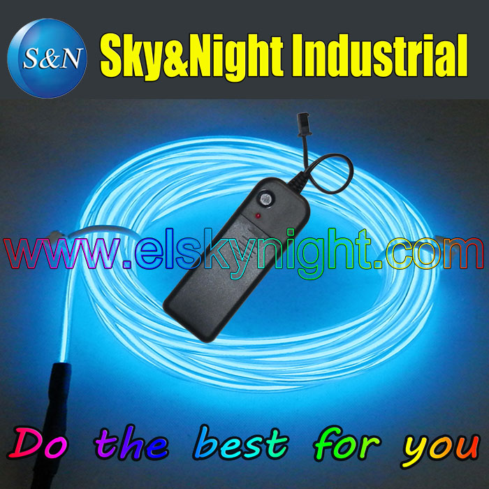 (9Set / Lot)  Blue Color-5M Flexible Neon Light EL Wire Rope Tube with Controller +Free Shipping(9Set / Lot)  Blue Color-5M Flexible Neon Light EL Wire Rope Tube with Controller +Free Shipping
