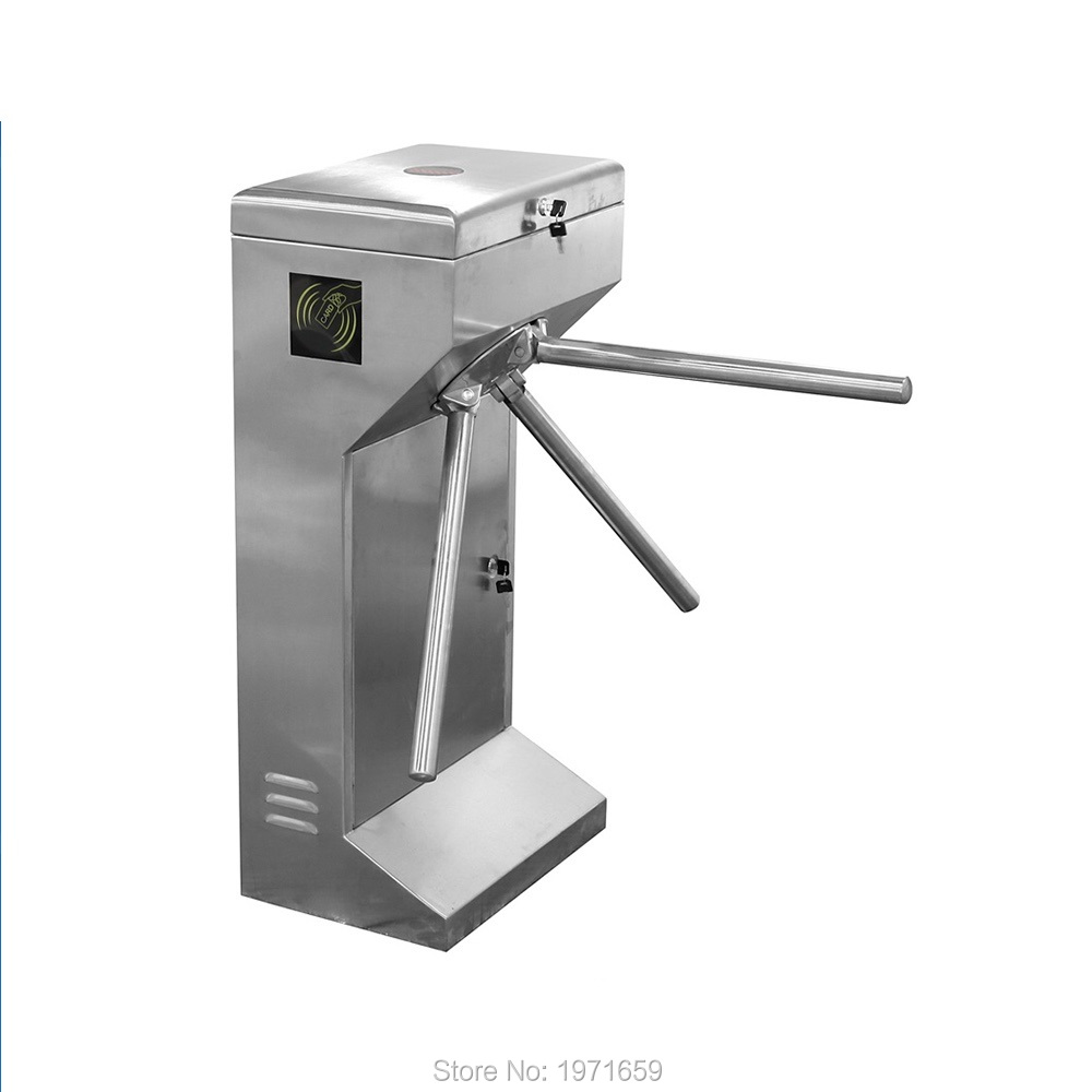 Access Control Semi-Auto Vertical Tripod Turnstile double sided turnstile for access control system catracas tourniquetes