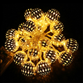 Battery LED String Light 2M 20 LED,1M 10LED Moroccan Balls For Wedding Party Holiday Light Decoration Christmas Light