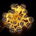 LED da bateria Luz Cordas 2 M 20 LED, 1 M 10LED Marroquino Bolas Para Festa de Casamento Férias Luz Decoração Luz de natal