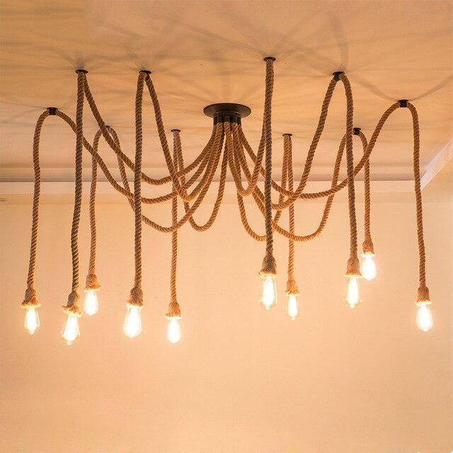 Maison Lumière Réglable Bricolage Antique Plafond Rétro Chanvre Restaurant Pour Lampe Lustre Bar Corde Araignée Vintage Classique LpMVSqzGU