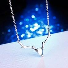 100% Стерлинговое Серебро 925 пробы модные рождественские лося
