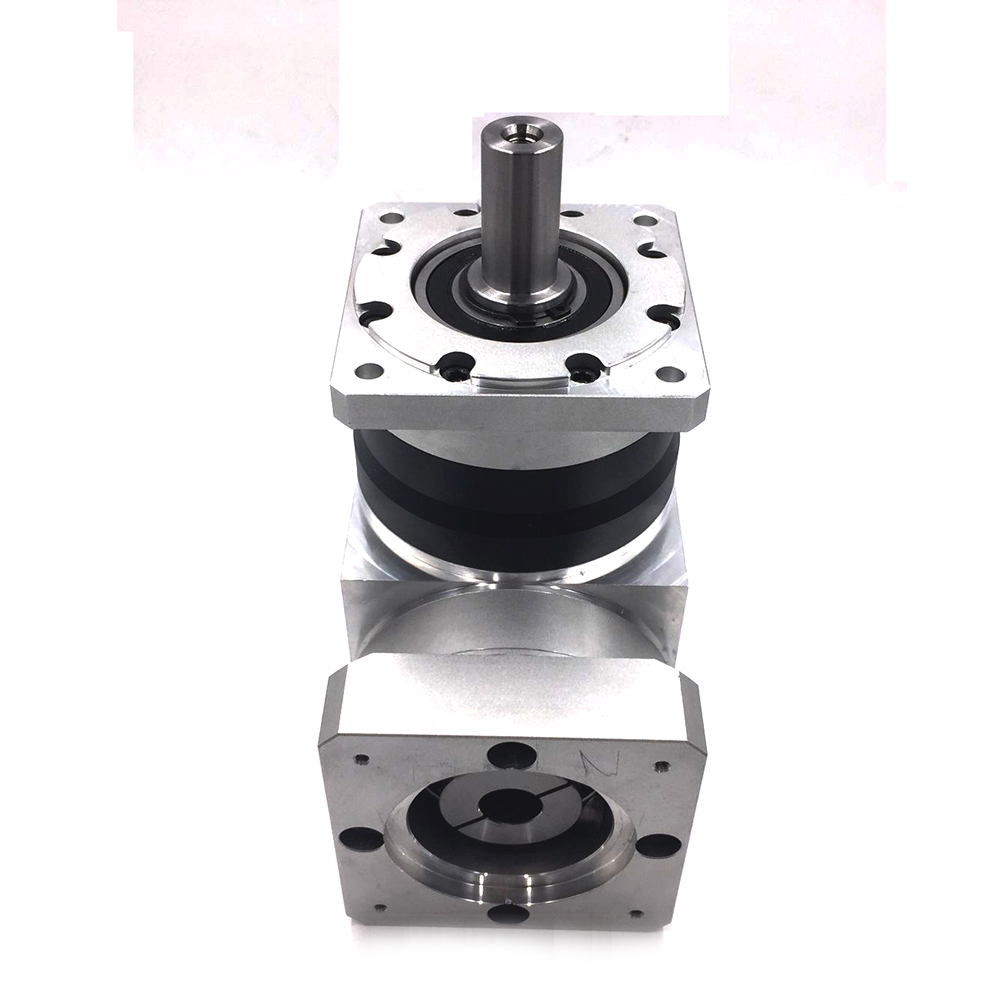 Input 22mm Shaft Right Angle 130mm Servo Reducer 3000rpm Speed Ratio 12-70:1 Planetary gearbox reducer for NEMA52 Servo Motor merz игла инъекционная 22 ga 70 mm 1 шт игла инъекционная 22 ga 70 mm 1 шт 22 ga 70 mm 1 шт