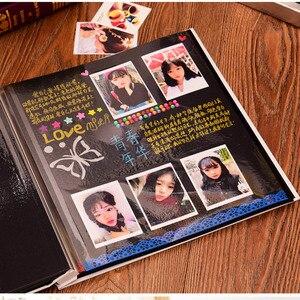 Image 5 - Retro 12 cal wysokiej jakości zamszowe album handmade DIY samoprzylepne, fotografia, księga, pary pamiątkowe zdjęcie ślubne kolekcja