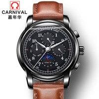 Карнавальные модные мужские часы  роскошные многофункциональные автоматические часы от топового бренда  водонепроницаемые механические ч...