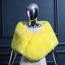 2016 New Arrival Yellow Faux Fur Shawls Warm Winter Wedding Women Shawls Evening Party Wraps Bridal Bolero Pashmina