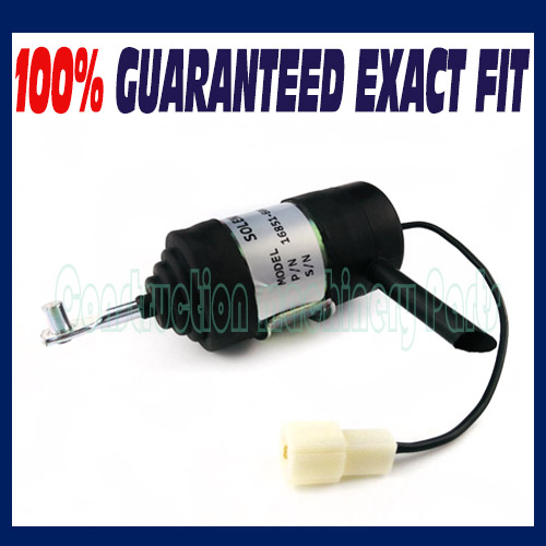 New Kubota Stop Solenoid BX2230D BX2350D BX2360(S/N for kubota fuel shut off solenoid 16851 60010 16851 60014 052600 4531 for denso b7410d bx1500d bx1800d