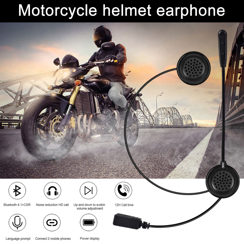 Motorcycle Helmet Bluetooth Headset Earphone Stereo Music GPS Noise Reduction XR657
