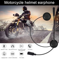 Motorcycle Helmet Bluetooth Headset Earphone Stereo Music GPS Noise Reduction XR657