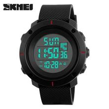 2016 SKMEI fashion Digital Watches men sports 50M Professional Waterproof large dial hours military Luminous wristwatches