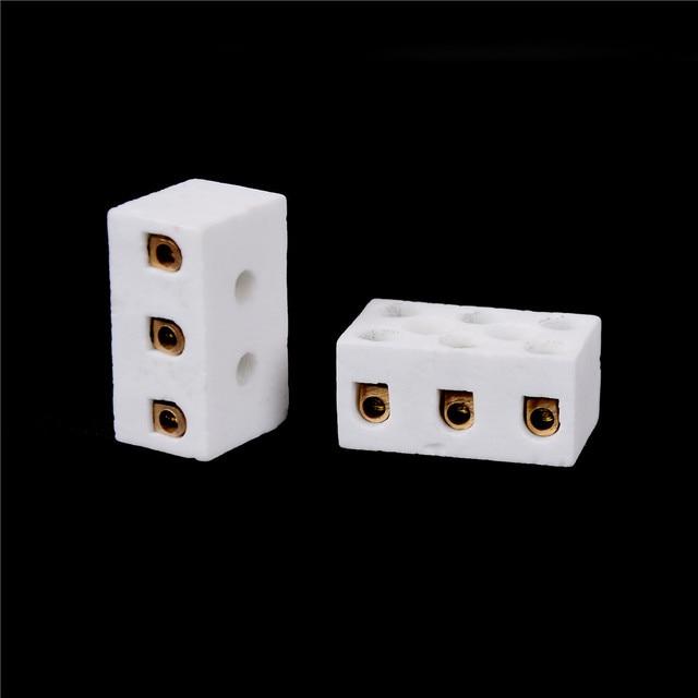 2 uds Bloque terminal de cerámica 15A 3 6 agujero conector de Bloque terminal de Cerámica s de alta calidad