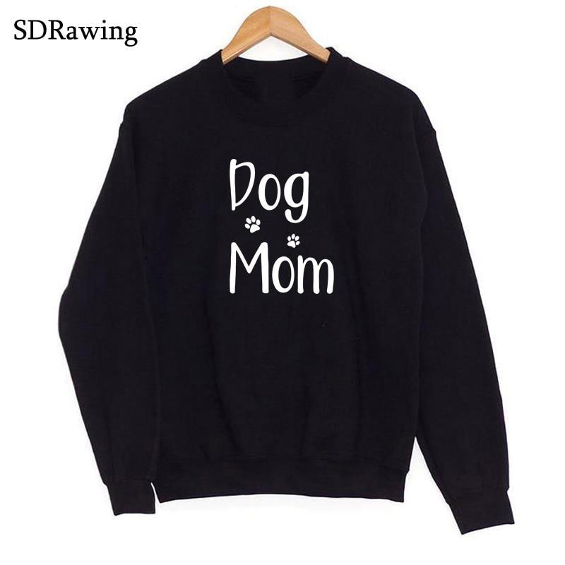 Chien maman patte imprimer fourrure maman chien amant, cadeau pour elle, maman de chiens, fourrure maman, j'aime les chiens Sweatshirts décontracté hauts Sweatshirts