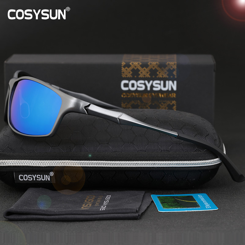 COSYSUN Sunglasses Men Aluminum Polarized Sunglasses Men's Sports Sunglasses Brand Designer Men Sunglasses Oculos masculino