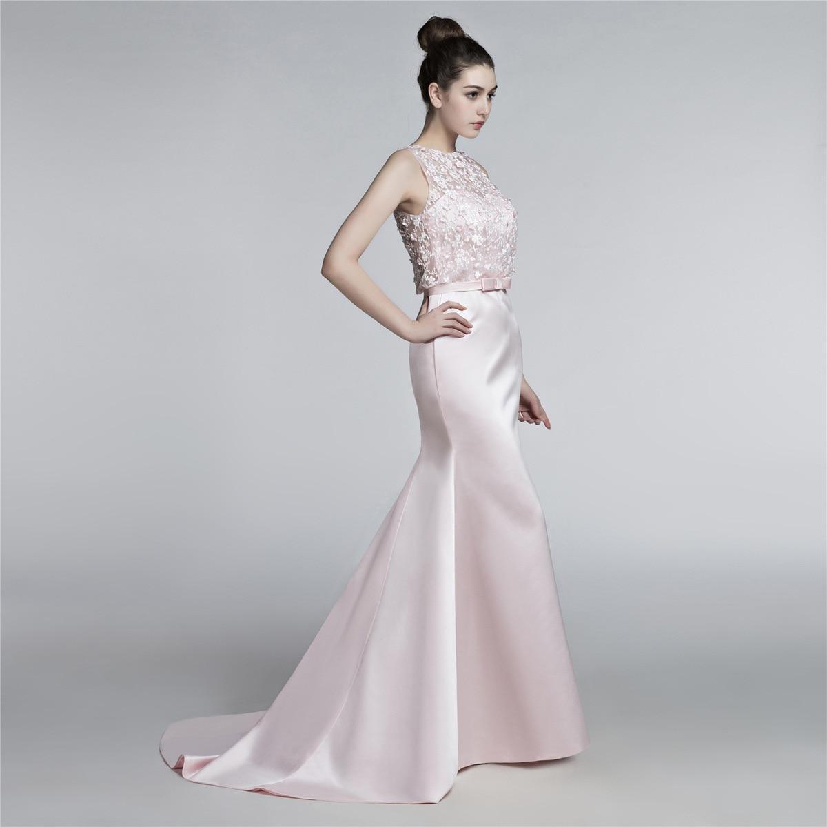 Robes Pink Bal Rose Soirée Colour Kaftan Robe Sirène Formelle Kleider De 2018 Longue Abend Festa 354jRLAq