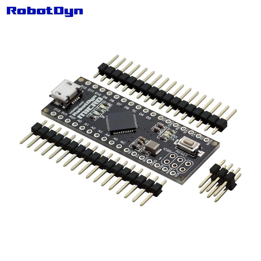 Micro ATmega32U4 (5V, 16MHz). Pins UNSOLDERED. Compatible With Micro And Leonardo