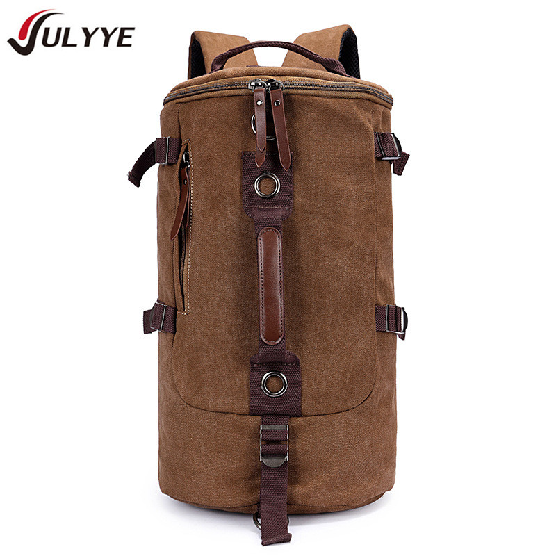 YULYYE New High Quality Canvas Large Capacity Man Travel Bag Hot Mountaineering Backpack Women Bags Canvas Bucket Shoulder Bag