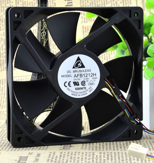SSEA New cooling fan for DELTA  AFB1212H  PWM control PC case Fan 12V 0.35A 12CM 12025 120*120*25mm computer water cooling fan delta pfc1212de 12038 12v 3a 12cm strong breeze big air volume violent fan