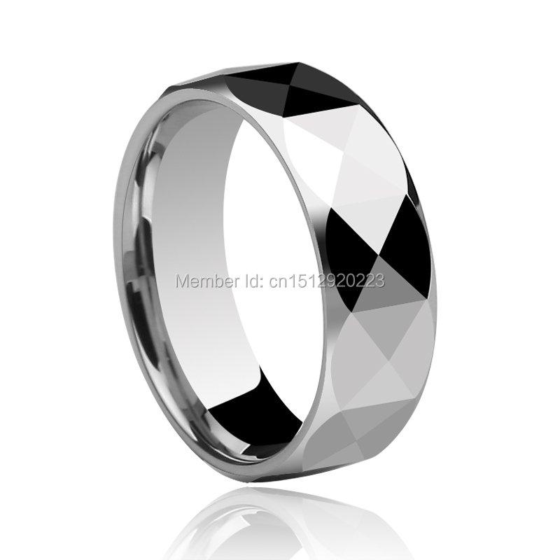 famous prism design shiny silver 857 tungsten rings 7mm4mm couples wedding band size 4