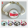 24pcs/lot Time gem The Vampire Diaries Bracelet for Girls Glass bracelet Cartoon Movie Charms bracelet wholesale