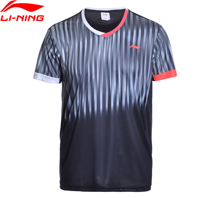 Li-Ning Men AT DRY Badminton Shirts Breathable Light T-Shirts Competition Top Comfort LiNing Sports Tee AAYM147 MTS2695