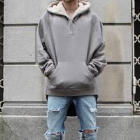 Dropshipping streetwear hip hop half zip podzielona sherpa bluza z kapturem z polaru kurtka futra lateksowe mężczyzna odzież marki