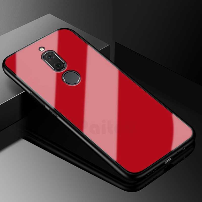 Роскошный чехол UPaitou из закаленного стекла для Huawei Mate 10 Lite, ударопрочный чехол-бампер из ТПУ