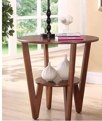 Beautiful type sofa table side. Simple Angle of a few. Small round tea table. Round telephone table.