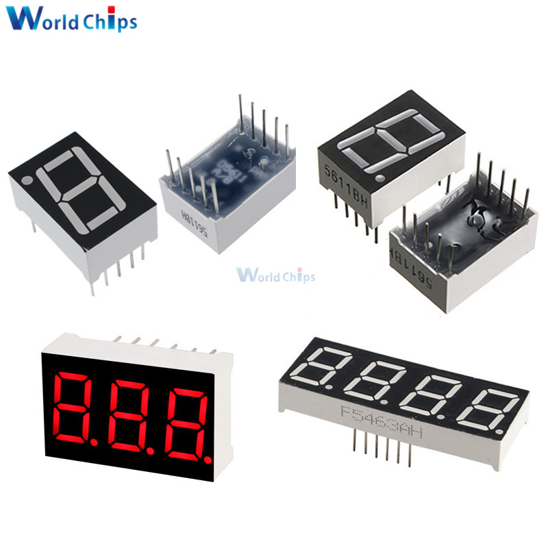 5pcs 0.56inch LED Display 7 Segment 1 Bit/2 Bit/3 Bit/4 Bit Digit Tube Red Common Cathode / Anode Digital 0.56 Inch Led 7segment