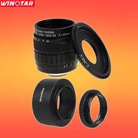 FUJIAN 35mm F1.7 CCTV Lens + Lente C-NEX MONTE + Capa de Lente + Macro anel para SONY E Mount A6300 A6500 A6000 NEX5T NEX6 NEX7 NEX3 NEX5