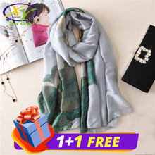 1PC 2017 New Arrival Fresh Silk Satin Women Fashion Scarf Thin Summer Woman Big Pashmina Shawls