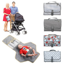 Multifunction Portable Diaper Changing Bag Pad Folding Bag Baby Foldable Waterproof Diaper Changing Mat Portable Changing Pad