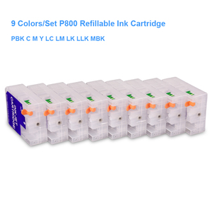Image 2 - 9 colori/Set T8501 T8501 T8509 Vuoto Cartuccia di Inchiostro Riutilizzabile Con Il Circuito di Reset Per Epson SureColor P800 SC P800 Stampante 80 ml/pz