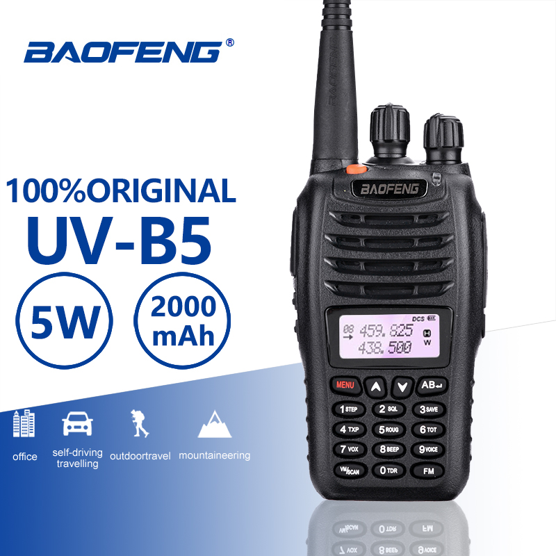 BaoFeng UV-B5 Walkie Talkie New Hot Sell UV B5 Dual Band Vhf 136-174MHz&Uhf <font><b>400</b></font>-470 <font><b>MHz</b></font> Small Mini LCD Screen UVB5 Two Way <font><b>Radio</b></font> image
