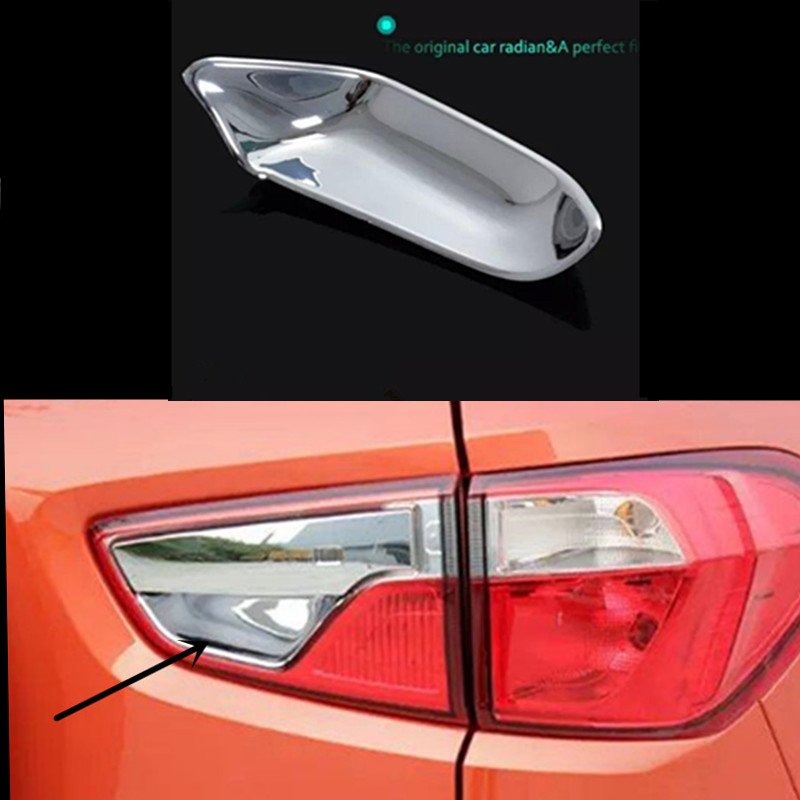 for Ford Ecosport 2013 2014 2015 ABS Chrome Rear Tail Hatch Trunk Door Handle Cup Bowl Cover Trim 1 pc car styling car styling for ford ecosport 2013 2014 2015 2016 abs chrome bottom grille cover frame car racing grills trim auto accessories
