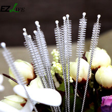 4Pcs/Set Fish Tank Pipe Brush Bottle Suction Tube Glass Tube Spiral Soft Hair Straw Cleaning Brushes Tools(China)