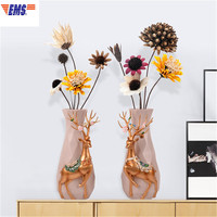 Nordic Stereoscopic Simulation Deer Luxurious Vase Creative Modern Simple Living Room Flower Arrangement Decoration X1997