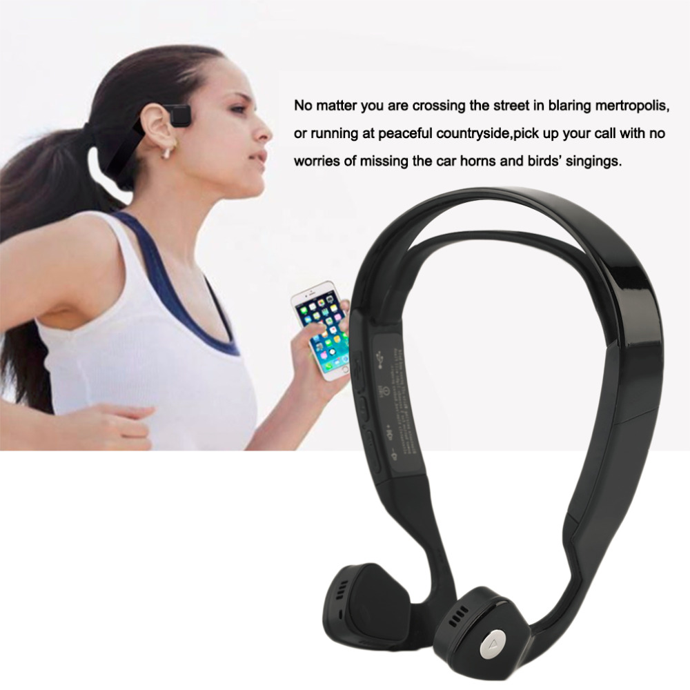 2018 newest Bone Sports Conduction Bluetooth 4.0 Wireless Stereo Headset Headphones hot sale Microphone Wireless Headphone