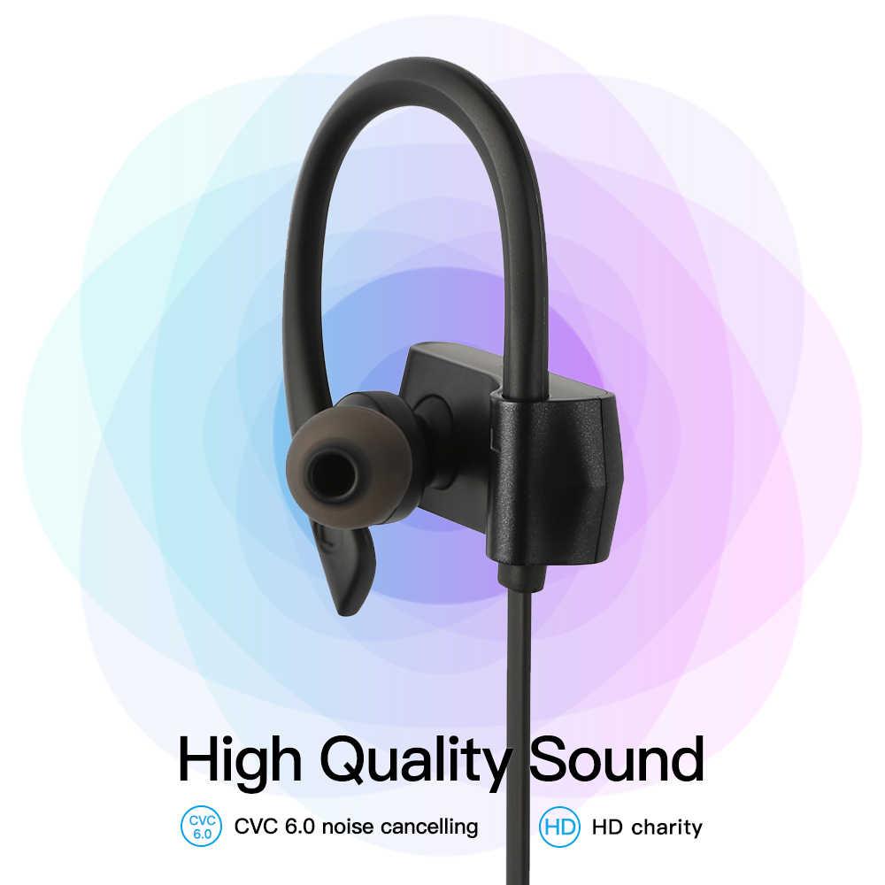 GGMM W600 Bluetooth ヘッドフォンワイヤレス Bluetooth イヤホンとマイクノイズキャンセルヘッドフォンを実行しているスポーツヘッドセット