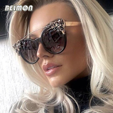 Belmon Fashion Cat Eye Sunglasses Women Brand Designer Sun Glasses For Ladies Vintage Oculos Cateye Colorful-Lens Female RS672