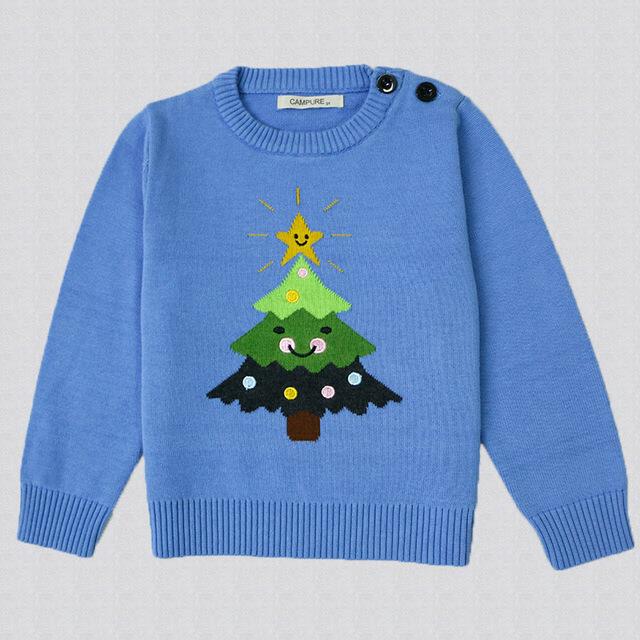 Novo 2016 outono Meninos Meninas Camisola Do Bebê Da Menina & do Menino camisola Crianças Boutique camisola de Malha de Lã Dos Desenhos Animados da árvore de Natal