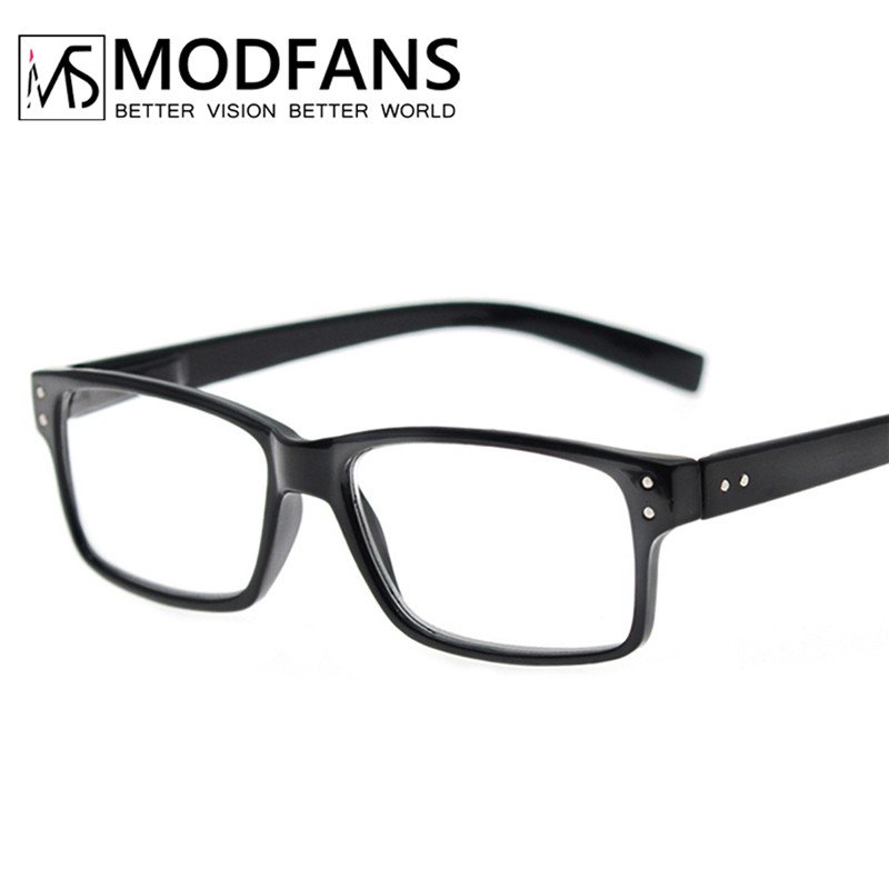 Reading Glasses Men Women Rectangle Frame Clear Lens Black Eyeglasses Presbyopic Ultralight Diopter Male Sight 1.0 1.25 1.75 2.0
